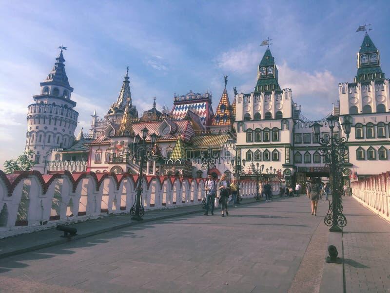Izmailovo Kremlin in Moskau stockfotografie