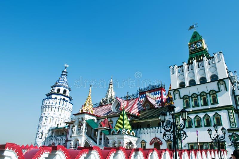 Izmailovsky het Kremlin, Moskou, Rusland royalty-vrije stock foto