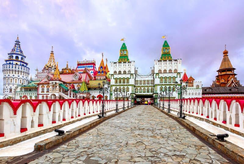Izmailovsky het Kremlin, Moskou, Rusland stock fotografie