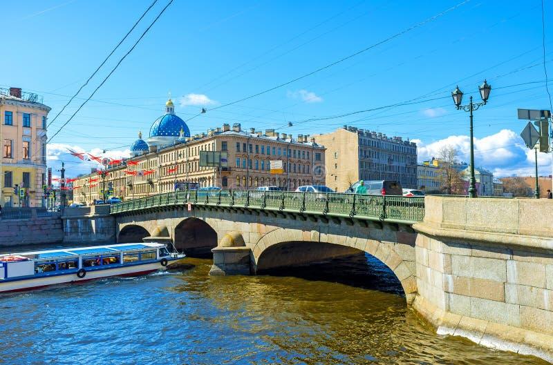 Izmailovsky most w St Petersburg obraz stock