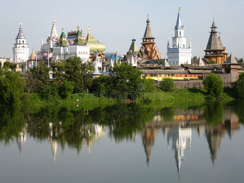 Izmaylovskiy Kremlin a Mosca Russia fotografia stock