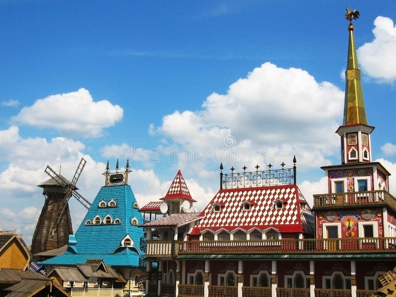 Izmaylovskiy vernisage, Moskau lizenzfreies stockfoto