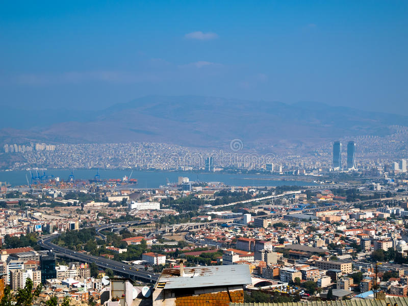 Izmir City, port at the Aegean Sea royalty free stock images