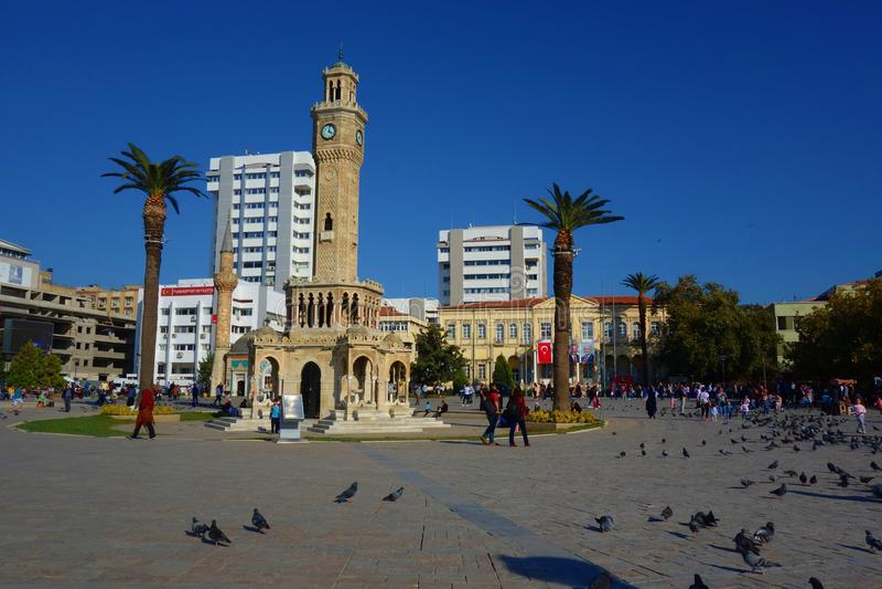 izmir indyk australia miasta zegaru sala lokalizować Perth western basztowego grodzkiego Sławny zegarowy wierza zostać symbolem I obraz stock