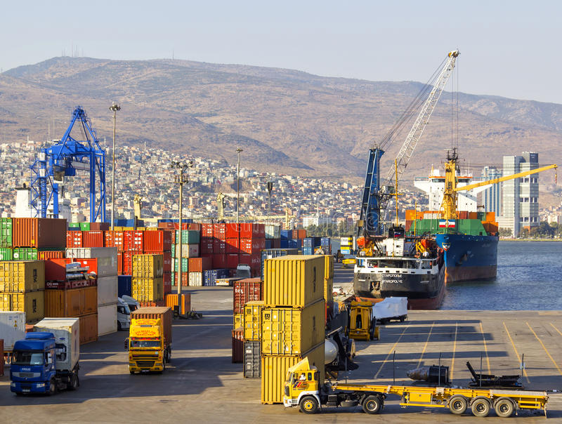 Download Izmir port editorial photography. Image of logistic, quayside - 37562702