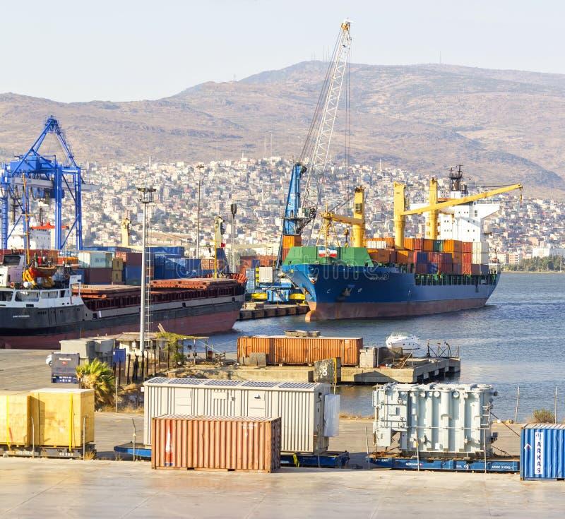 Download Izmir port at Alsancak editorial stock image. Image of industry - 34904644