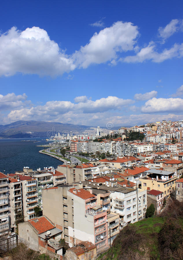 Izmir s view from Asansor Tower