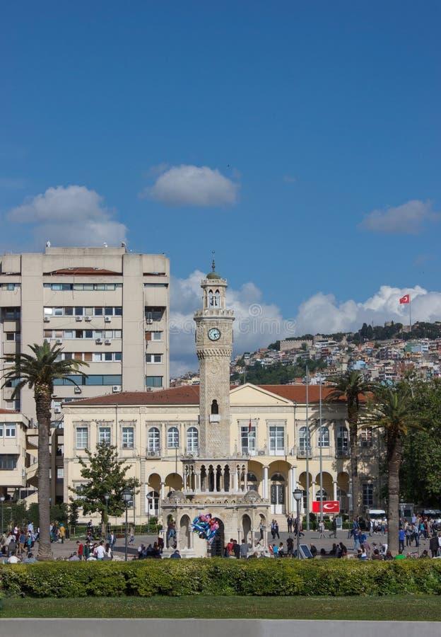 Izmir view with Saat Kulesi stock image