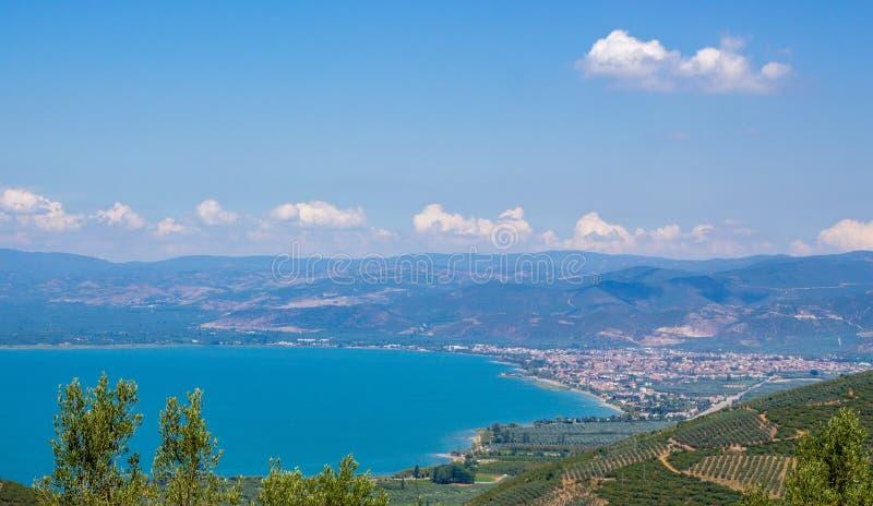 Iznik and Iznik Lake Panoramic view royalty free stock images