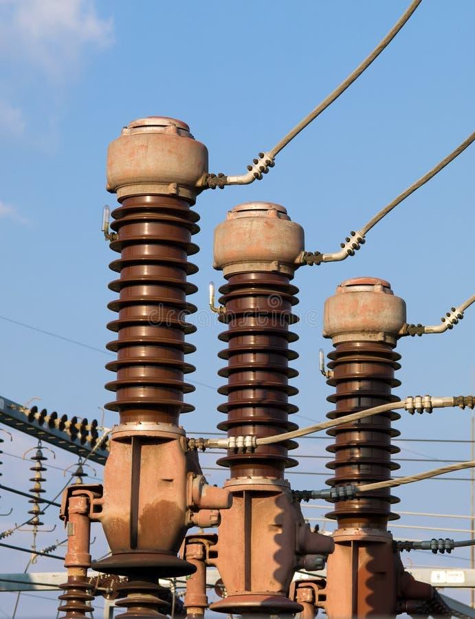izolator elektryczna podstacja zdjęcie royalty free
