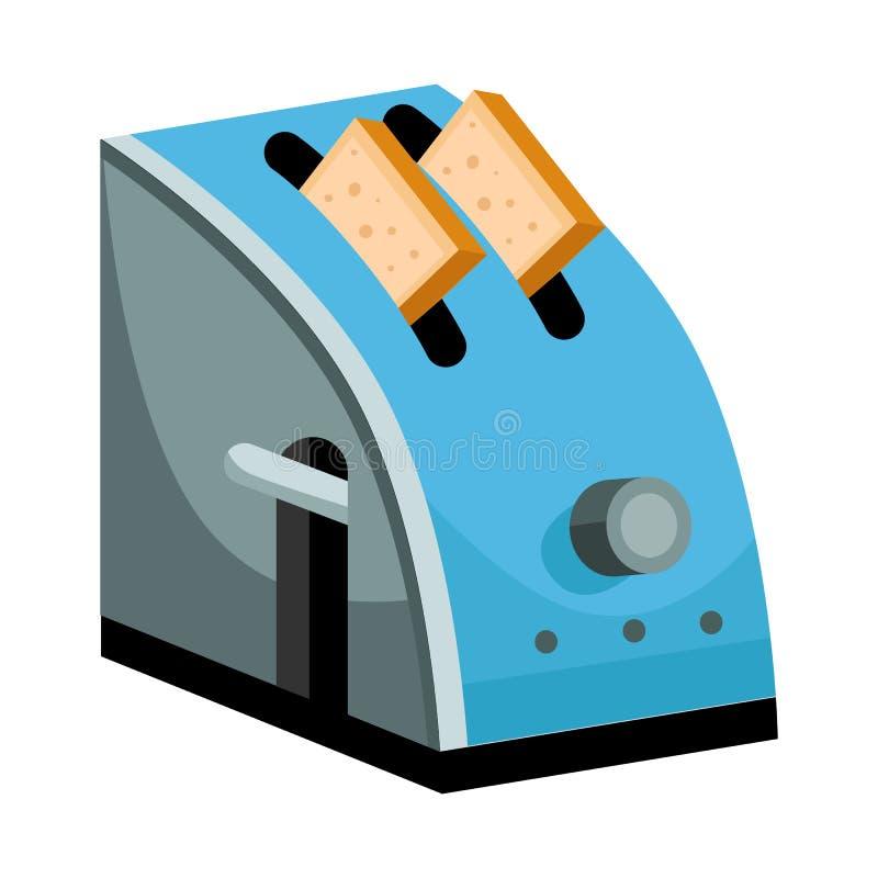 Izolowany obiekt ikony tostera i tosta Ilustracja tostera i wektora elektrycznego royalty ilustracja