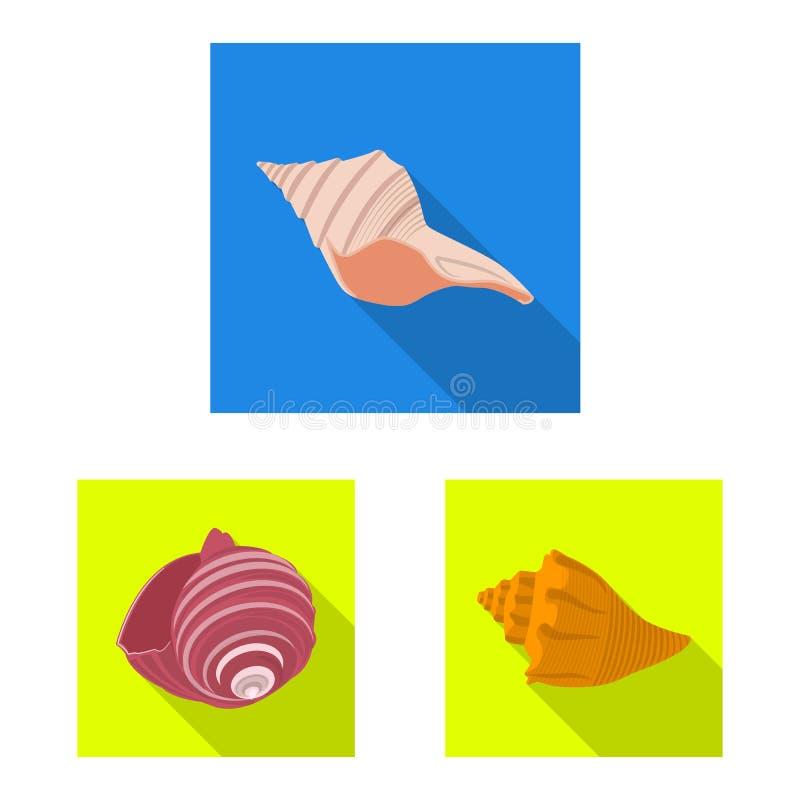 Izolowany obiekt ikony zwierzęcia i dekoracji Zestaw ilustracji wektora zasobów zwierzęcych i oceanicznych ilustracji