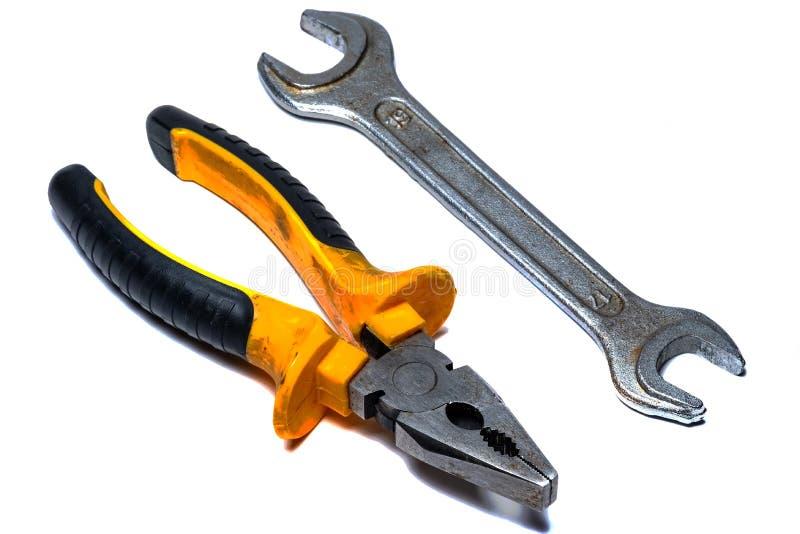 Izolujący cążki narzędzie dla elektryka, na białym tle zdjęcia stock