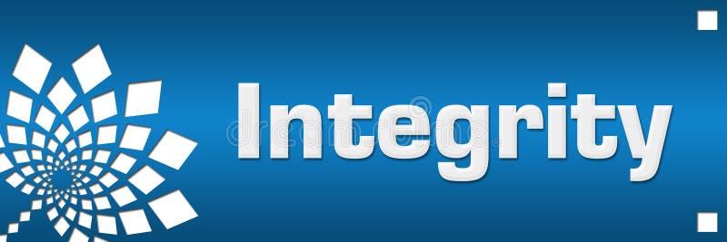 Izquierda floral del extracto azul de la integridad stock de ilustración