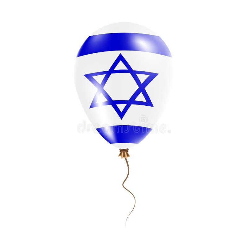 Izrael balon z flaga ilustracji