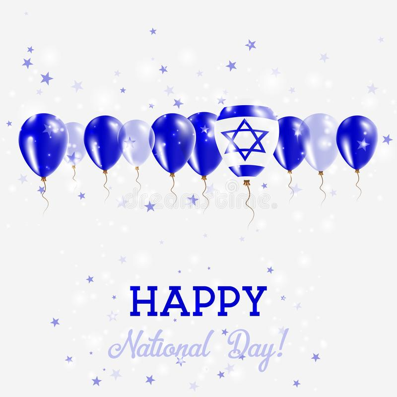 Izrael dnia niepodległości Błyskać Patriotyczny ilustracja wektor