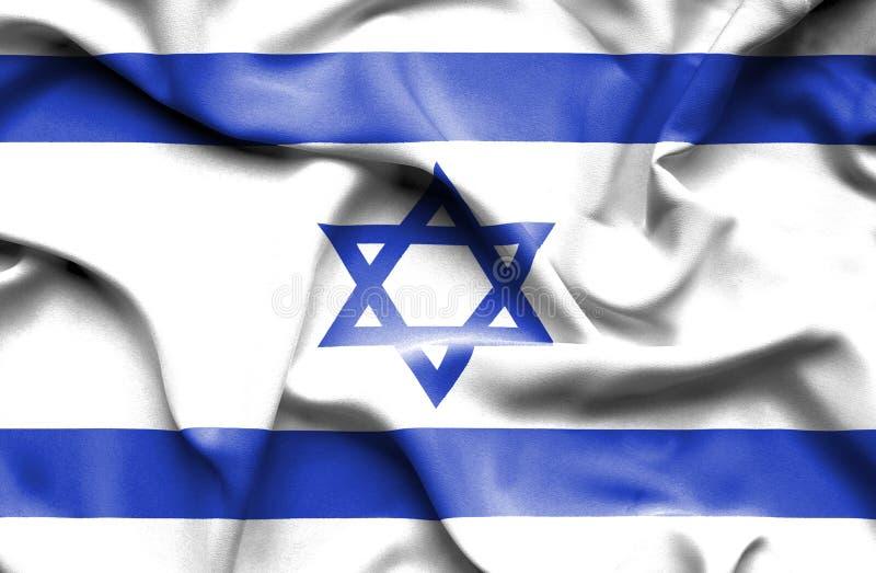 Izrael falowania flaga ilustracji