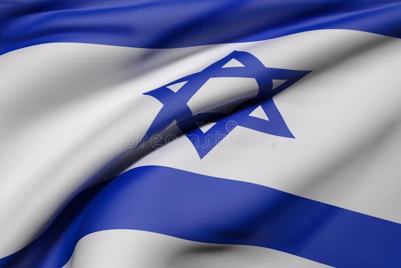 Izrael flaga falowanie ilustracji