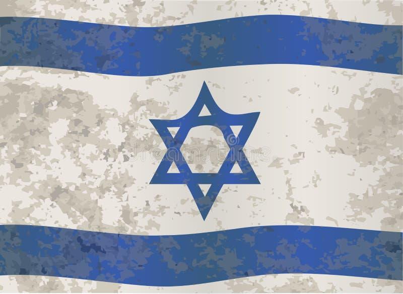 Izrael flaga Grunge ilustracji