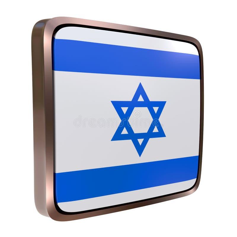 Izrael flaga ikona royalty ilustracja