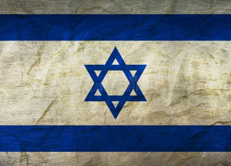 Izrael flaga na papierze royalty ilustracja