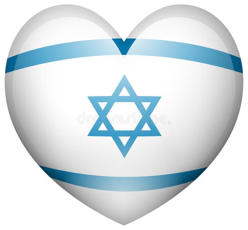 Izrael flaga w kierowym kształcie royalty ilustracja