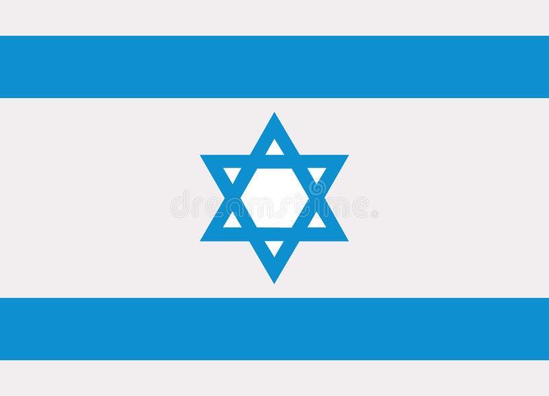 Izrael flaga wektor ilustracja wektor