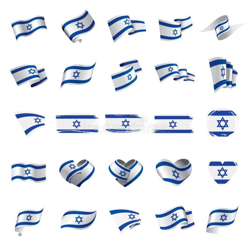 Izrael flaga, wektorowa ilustracja royalty ilustracja