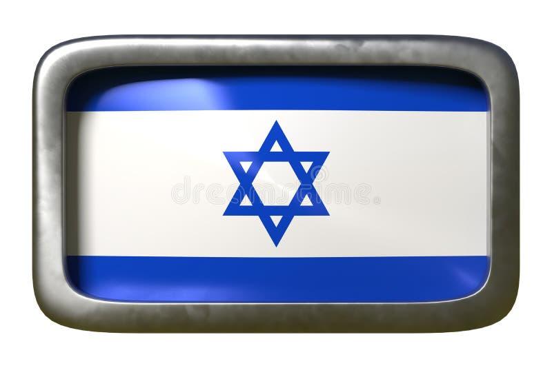 Izrael flagi znak royalty ilustracja
