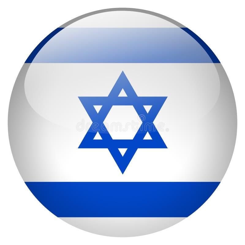 Izrael guzik ilustracja wektor
