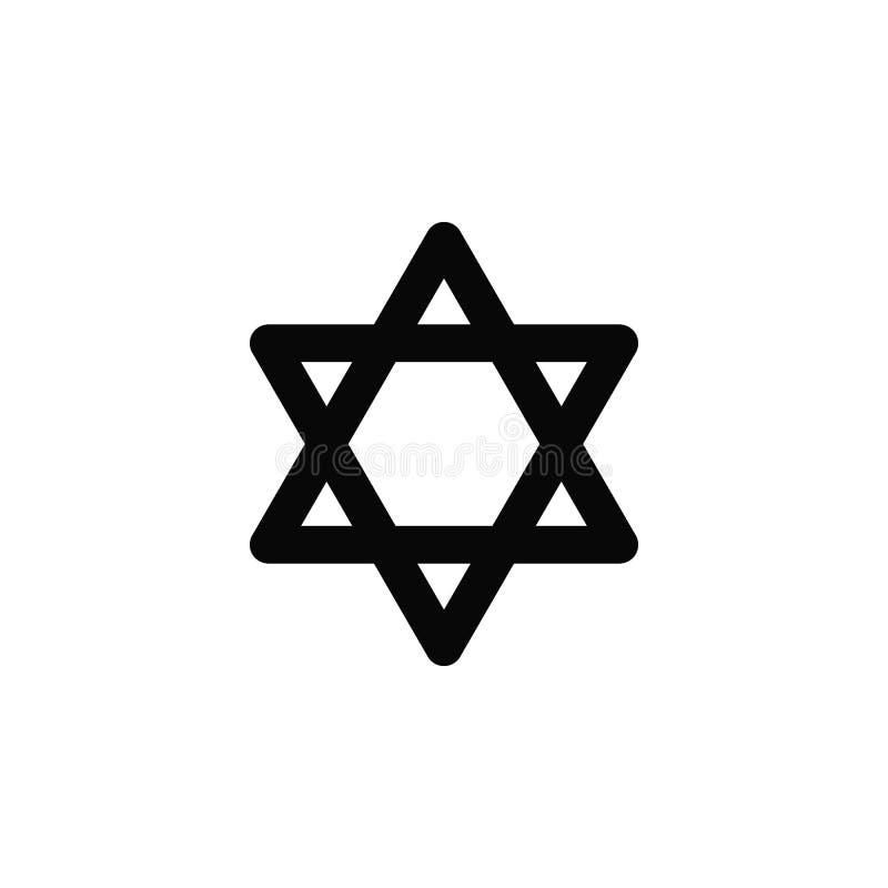 Izrael gwiazda dawidowa, ikona Element prosta ikona dla stron internetowych, sieć projekt, mobilny app, infographics Gęsta kresko ilustracji