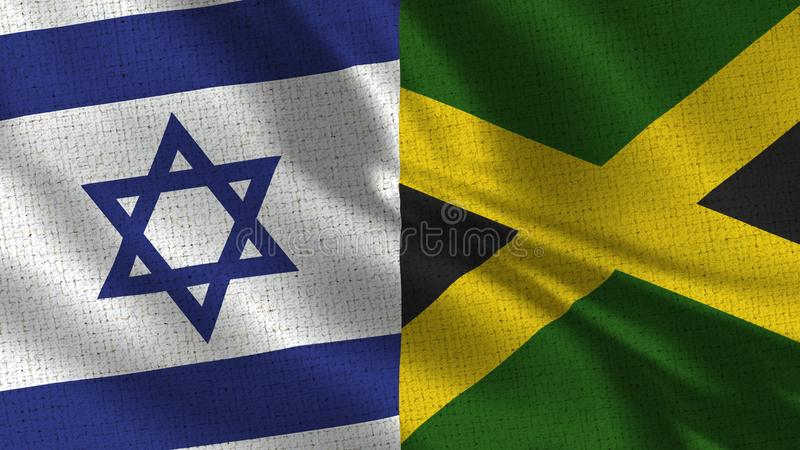 Izrael i Jamajka flaga - Dwa flaga Wpólnie obraz royalty free