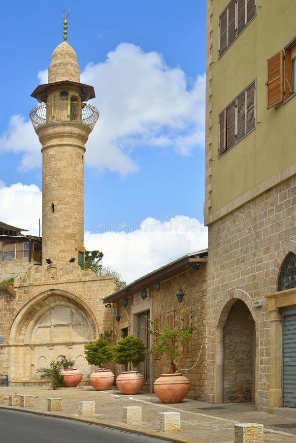 Izrael Jaffa stary minaret fotografia stock
