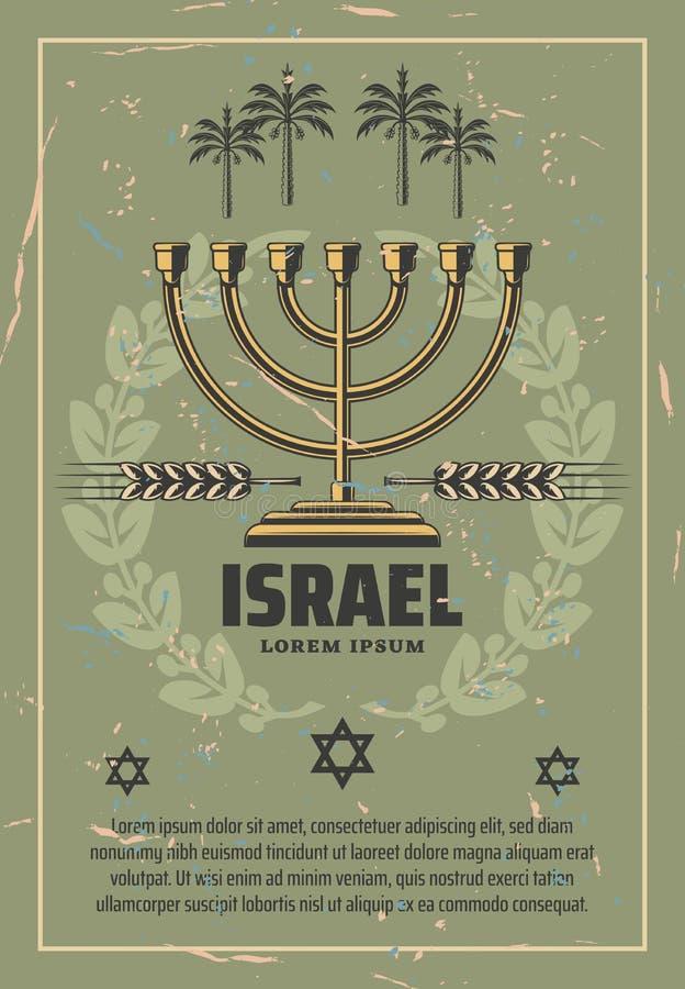 Izrael judaizmu religii Hanukkah menorah