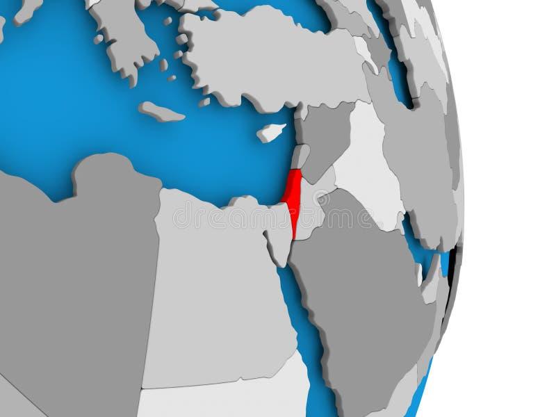 Izrael na kuli ziemskiej ilustracji