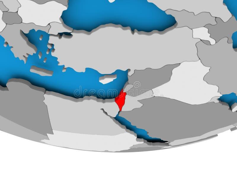 Izrael na kuli ziemskiej royalty ilustracja