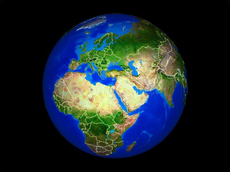 Izrael na ziemi od przestrzeni royalty ilustracja