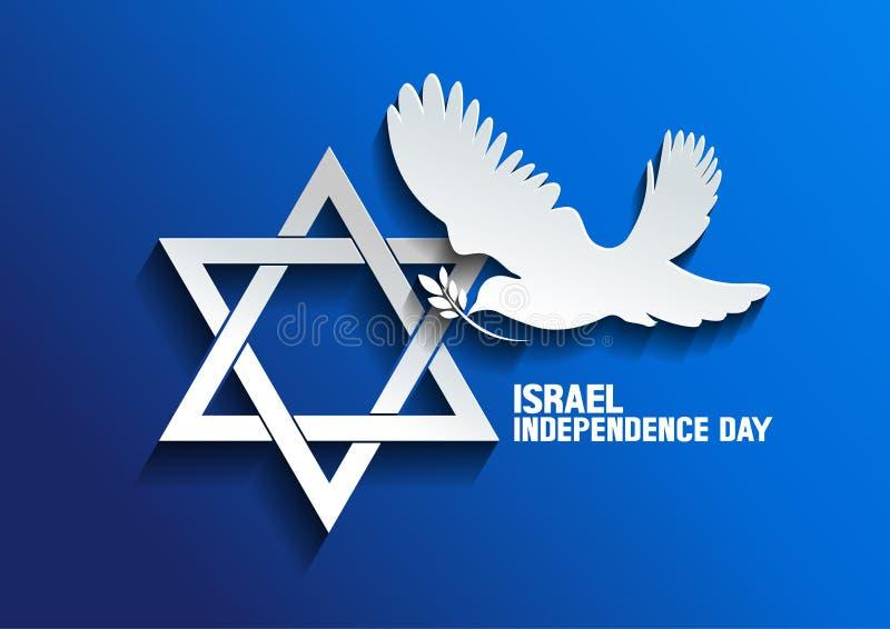 Izrael Nurkował pokój ilustracja wektor