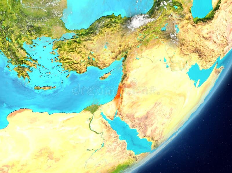 Izrael od przestrzeni ilustracji