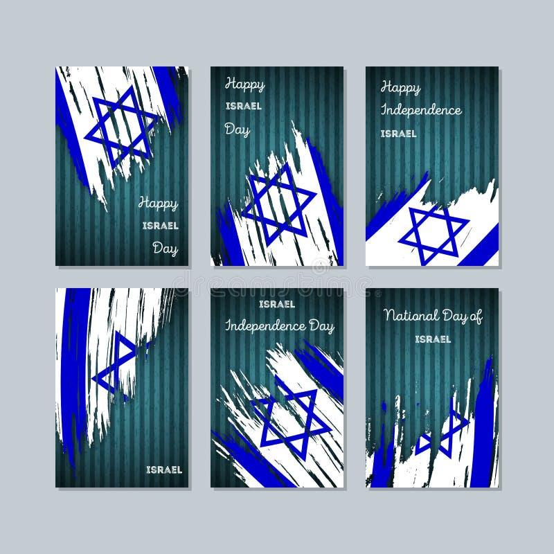 Izrael Patriotyczne karty dla święta państwowego royalty ilustracja