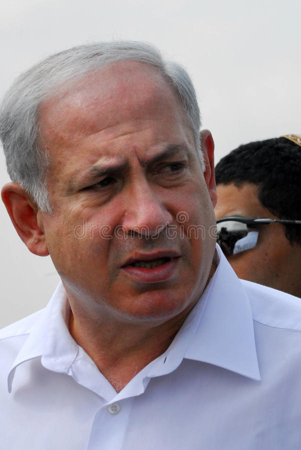 Izrael Pierwszorzędny minister - Benjamin Netanyahu zdjęcie stock