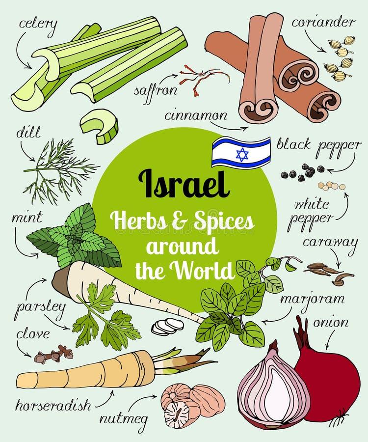 Izrael pikantność i ziele ilustracji