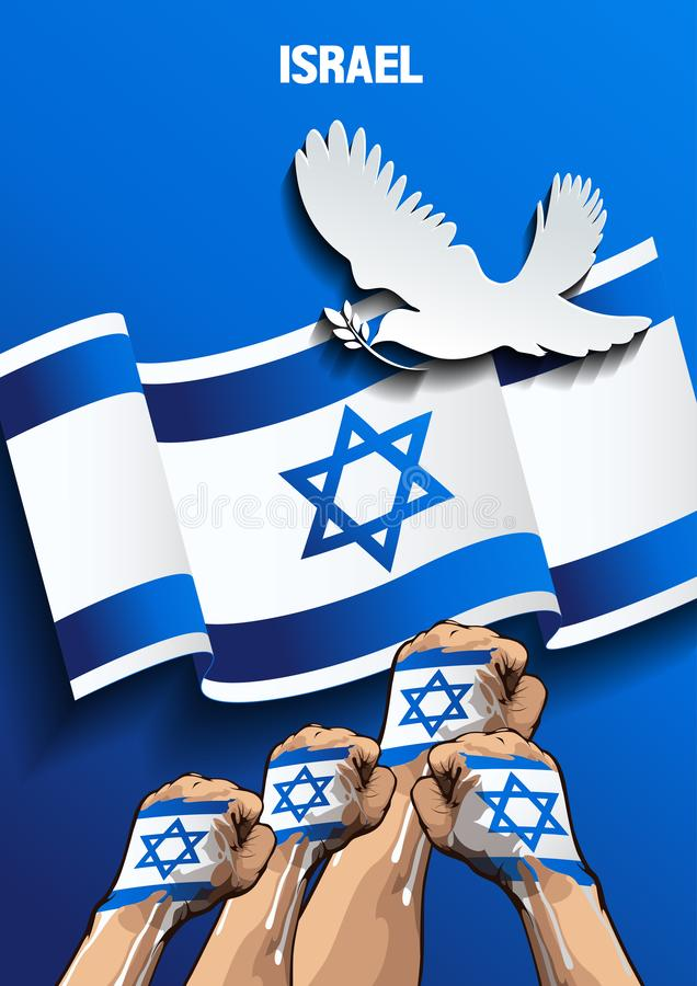 Izrael plakat royalty ilustracja