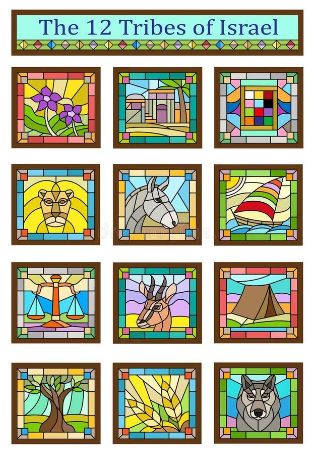 Izrael plemion symbole ilustracji