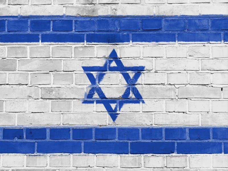Izrael polityki pojęcie: Izraelita flagi ściana obraz stock