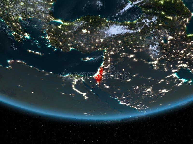 Izrael przy nocą royalty ilustracja