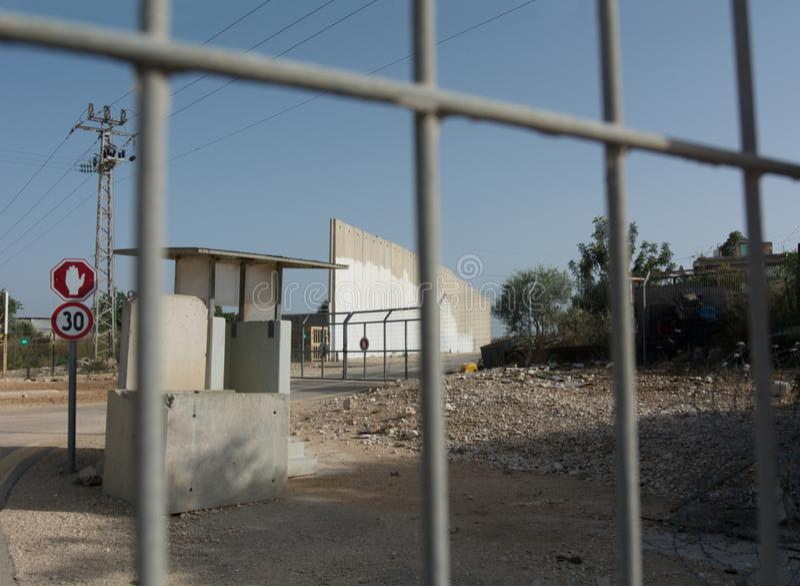 Izrael Separacyjna ściana Palestyna, zachodni bank obrazy stock