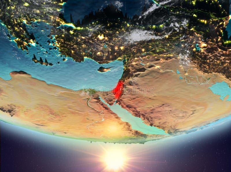 Izrael z słońcem ilustracji