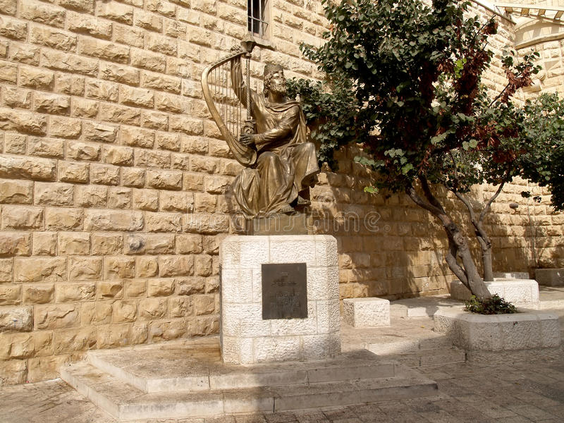 Izrael Zabytek tsar David w Jerozolima zdjęcia stock