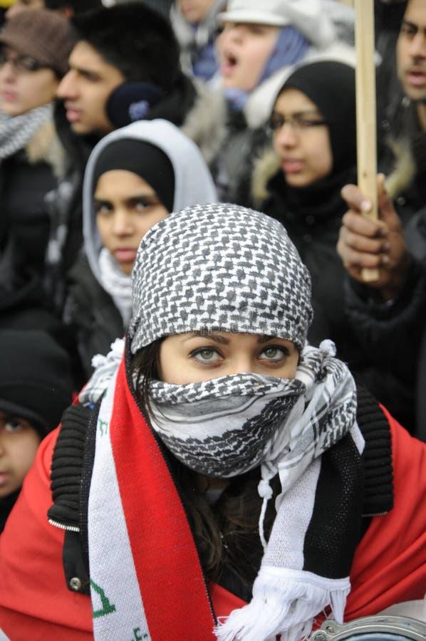 Izrael zajęcie Gaza wiec. fotografia royalty free